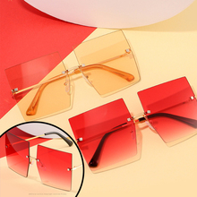 TTLIFE Oversized Frame Irregular Sunglasses Square 3D Glasse