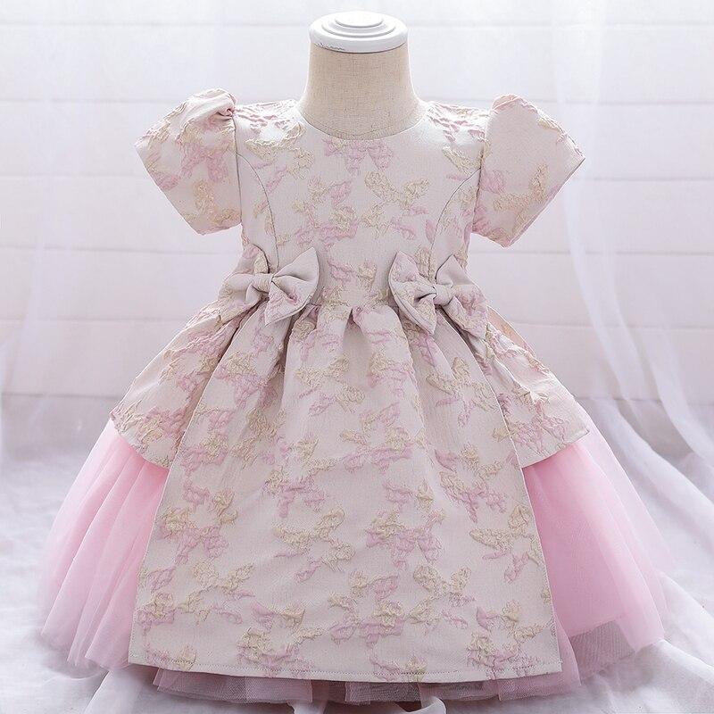 2021 ropa de niño 1 2 año Tutu recién nacido 1st vestido de cumpleaños para vestidos para bebés niñas vestido de bautismo vestido de fiesta y boda