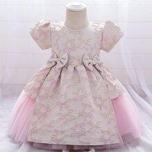 Baptism Dress Baby-Girl Flower-Dress Tutu Frocks Wedding Party Newborn 2-Year 1st
