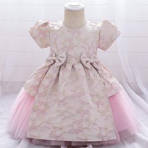 2021 ubrania dla dzieci 1 2 rok Tutu noworodka 1st sukienka urodzinowa dla dziewczynki sukienki chrzest sukienka w kwiaty Party i wesele