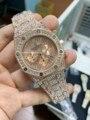 Luxus Marke Neue Männer Uhren Chronograph Sapphire Edelstahl Gelb Gold Rose Silber Schwarz Volle Iced Diamanten Mode Uhr