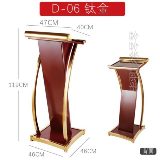 Front Desk Reception Desk Special-shaped Company Clerk Speech Desk Client Simple And Multi-purpose