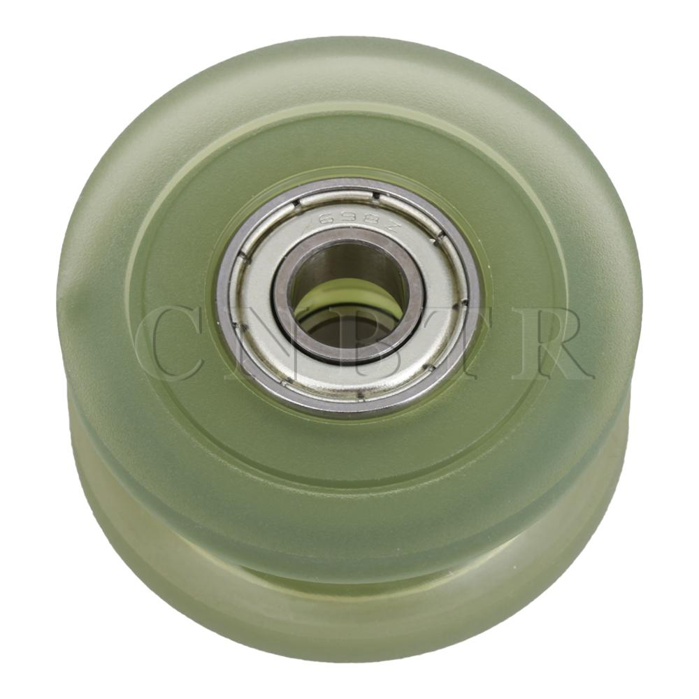 CNBTR 698 Groove Ball Bearing PU Pulley Passive Roller Wheel 8x40x18mm 85A image