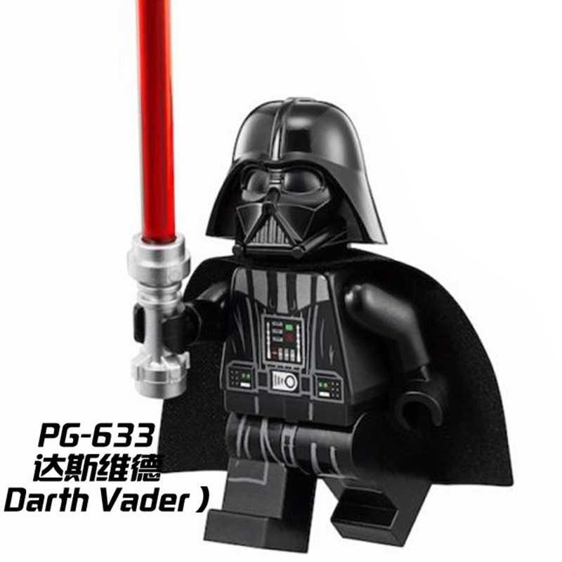 Starwars לוק Leia האן סולו דארת ויידר Obiwan יודה Ray פין C3po הג אבני בניין צעצוע לילדים מלחמת כוכבים דמויות לבנים