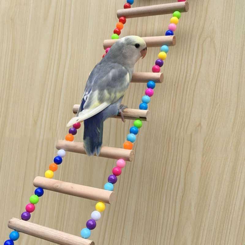 Птицы домашние животные лестницы для попугаев скалолазание Игрушка Висячие
