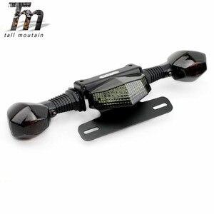 Soporte para matrícula de luz LED para SUZUKI GSX1300R HAYABUSA 2008-2020 18 19 accesorios de la motocicleta cola guardabarros limpio Eliminador