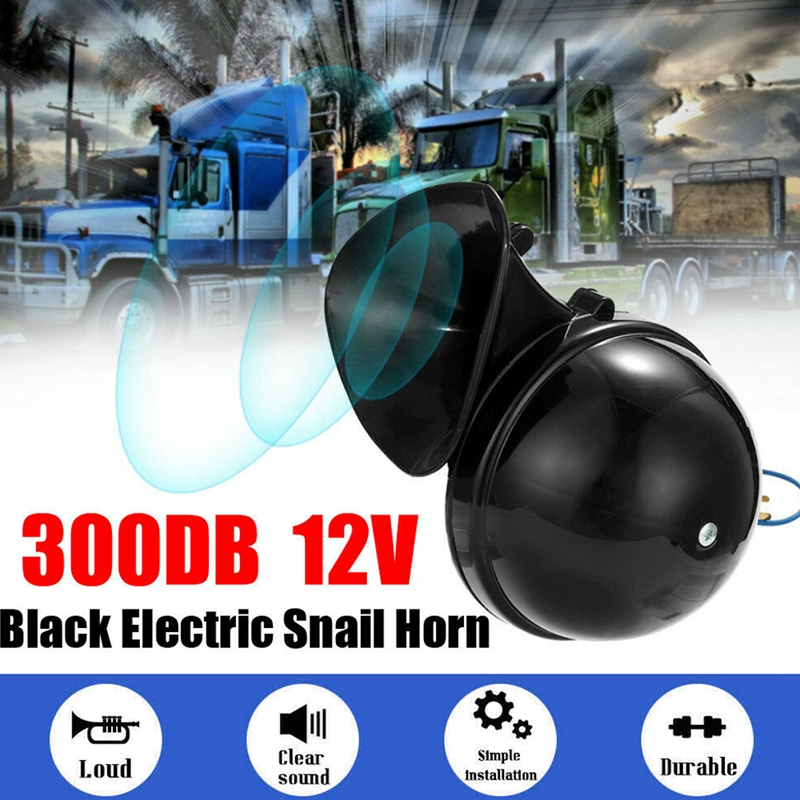Громкий 300DB 12V электрический Улитка воздушный рожок оригинальность звук для автомобилей, мотоциклов, грузовиков подъёмный кран