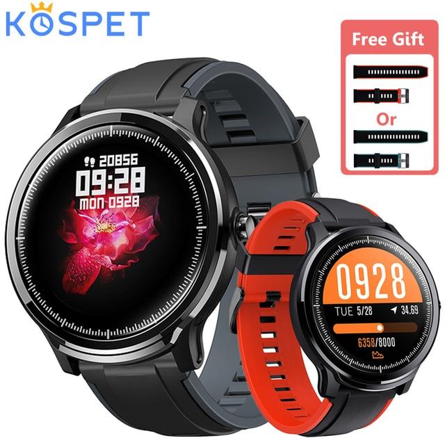 """KOSPET Sonde Smart Uhr 1.3 """"Full Touch Screen IP68 Wasserdicht Schwimmen Sport Smartwatch Herz Rate Blut Sauerstoff Monitor Uhr"""