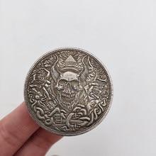 Коллекционные Юбилейные Монеты 1881 в американском стиле, коллекционные монеты с черепом и мечом, латунные посеребренные украшения для дома, ...