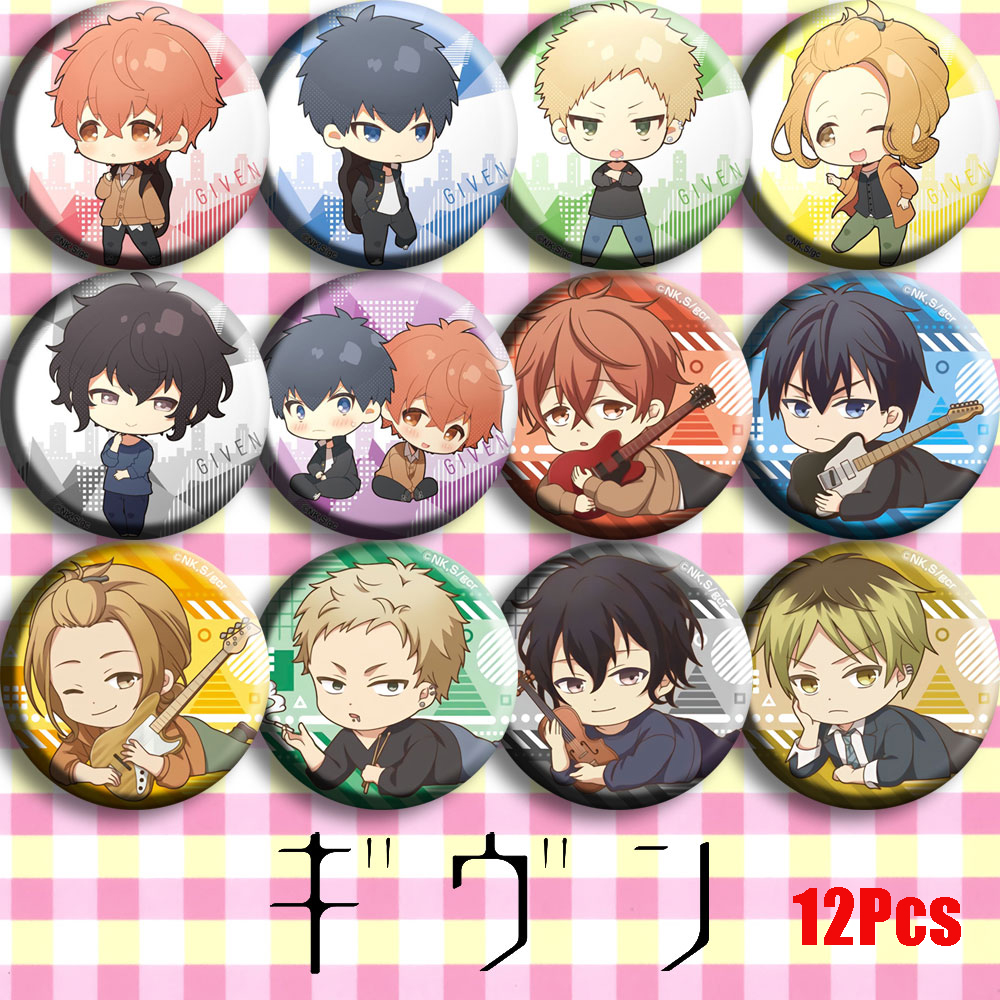 GIVEN Sato Mafuyu Uenoyama Ritsuka Nakayama Haruki Cosplay Badge Cartoon Collect Backpack Bag Bedge Button Brooch Pin Pendant