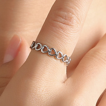 2019 Hot Women Opening Adjustable Heart Ring Hollow Out Lover Rings Copper Gold  Girl Wedding Jewelry Fashion Trendy Gift chic hollow out letter opening ring for women