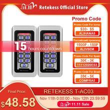 2 chiếc RETEKESS T AC03 Bàn Phím RFID Điều Khiển Truy Cập Hệ Thống Thẻ Cảm Ứng Độc Lập 2000 Người Sử Dụng Truy Cập Cửa Điều Khiển Chống Nước