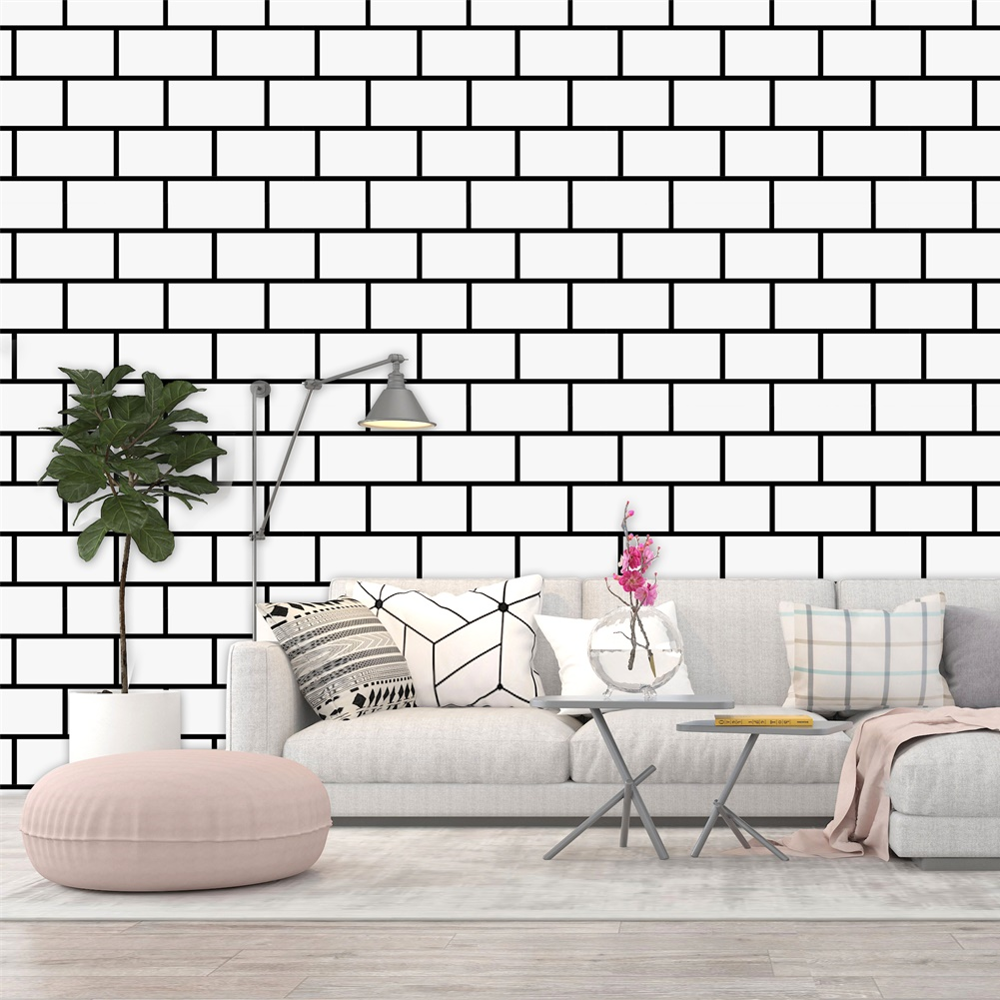 Trellis White Wall Paper Contact Paper Decorative Peel And Stick Wallpaper Self Adhesive Removable Wallpaper Brick Wallpaper Wallpapers Aliexpress