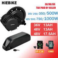 Bafang Motor 48V 500/750/1000w BBS02 BBSHD Elektrische Fahrrad Conversion Kit mit Batterie 36v 48V 13/17. 5ah Ebike Motor Kit BBS01