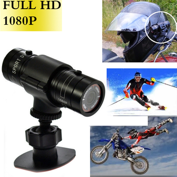 цена на New LAMJAD 2018 Hot Mini F9 HD Sports Camera Bike Motorcycle Helmet Sports Action Camera Video DV Full HD 1080p Sports Camera