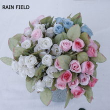 Artificial  Flowers Silk Fake Flower Eighteen-Head Roses Wedding Home Decor Party High-Quality