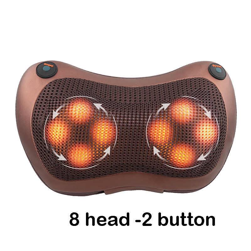 Relaks wysokiej jakości poduszka do masażu wibrator elektryczny ramię powrót ogrzewanie ugniatanie terapia podczerwienią masaż karku shiatsu
