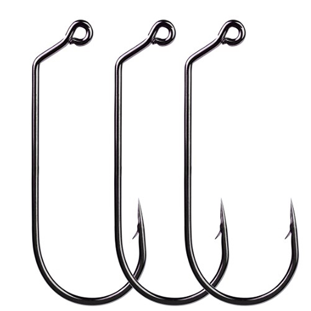 10pcs Jig Big Series Fishing Crank Hook Offset Jig Fishhook Saltwater Bass Worm Hooks Carp Fishing Accessories  Fishing Tackle