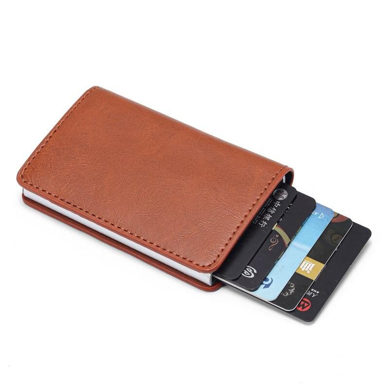 Hommes crédit porte-carte porte-carte d'identité de visite mode automatique RFID portefeuille porte-cartes en Aluminium porte-carte portefeuilles porte carte