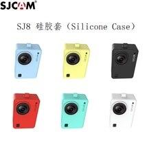 Accessoires dorigine SJCAM Silicone/manchon + corde de poignet/lanière étui de protection/cadre/couverture/bordure pour SJ8 Pro Plus caméra daction