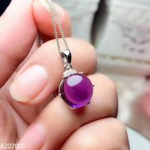 KJJEAXCMY Fine Jewelry 925 Sterling Silver inlaid gemstone Amethyst Female Pendant Necklace fashion hot selling szjinao silver pendant for women real 925 sterling silver amethyst pendants necklace statement womens jewelry crystal gemstone