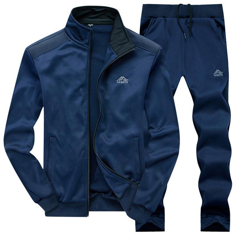 New Fashion Spring Autumn Men Sportswear 2 Piece Set Sporting Suit Jacket+Pant Sweatsuit Men Clothing Tracksuit Set
