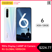 realme 6 Mobile Phone Global Version 4GB RAM 128GB ROM