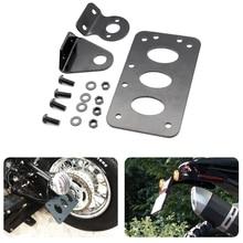 Черный мотоцикл боковое Крепление номерного знака Кронштейн поплавок Чоппер подходит для Harley Sportster стоп светильник Cb750 xs650 задний светильник