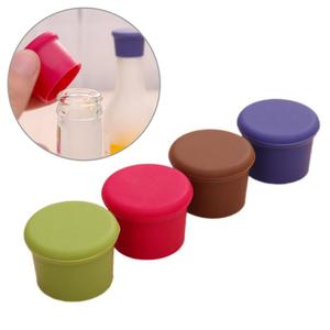 Random Color Sealers Leak Free Fresh Keeping Plug Silicone Red Wine Beer Beverage Bottle Caps Stoppers Bar Kitchen Accessories
