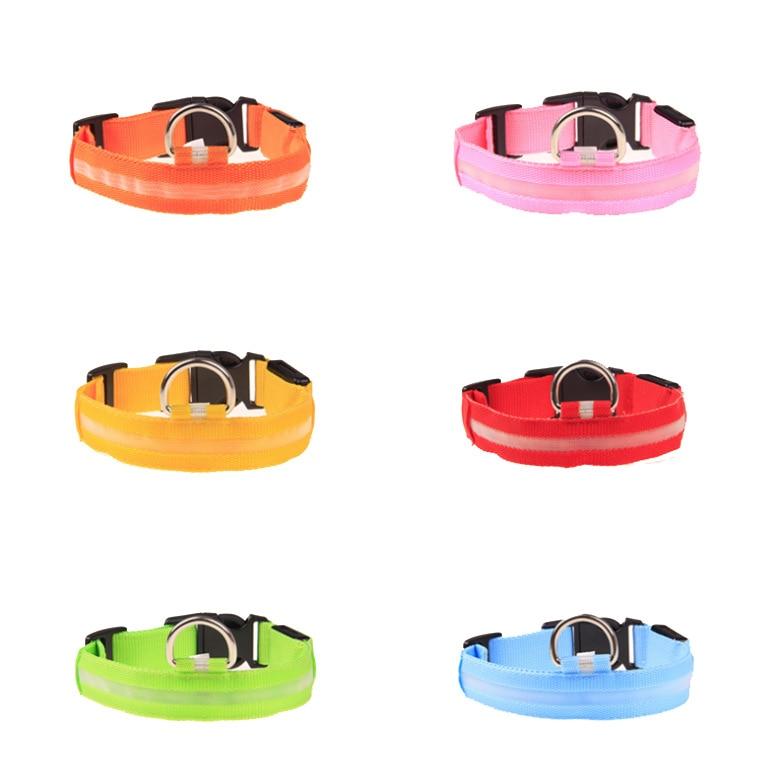2.5 Wire Screen Pet Collar Luminous Collar LED Flash Dog Collar 8-Color 4 PCs Size