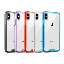 Clear Back Bumper Frame Case For iphone 7 6 6S 8 Plus X Xs Max XR 11 Pro Hybrid Hard Acrylic Soft TPU Anti-knock Cases