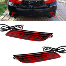 2 Pcs Car Rear Taillight Bumper Brake Light Red LED Stop Warning Reflector Lamp For Toyota Camry 2018 2019 With 2 Kinds Function(China)