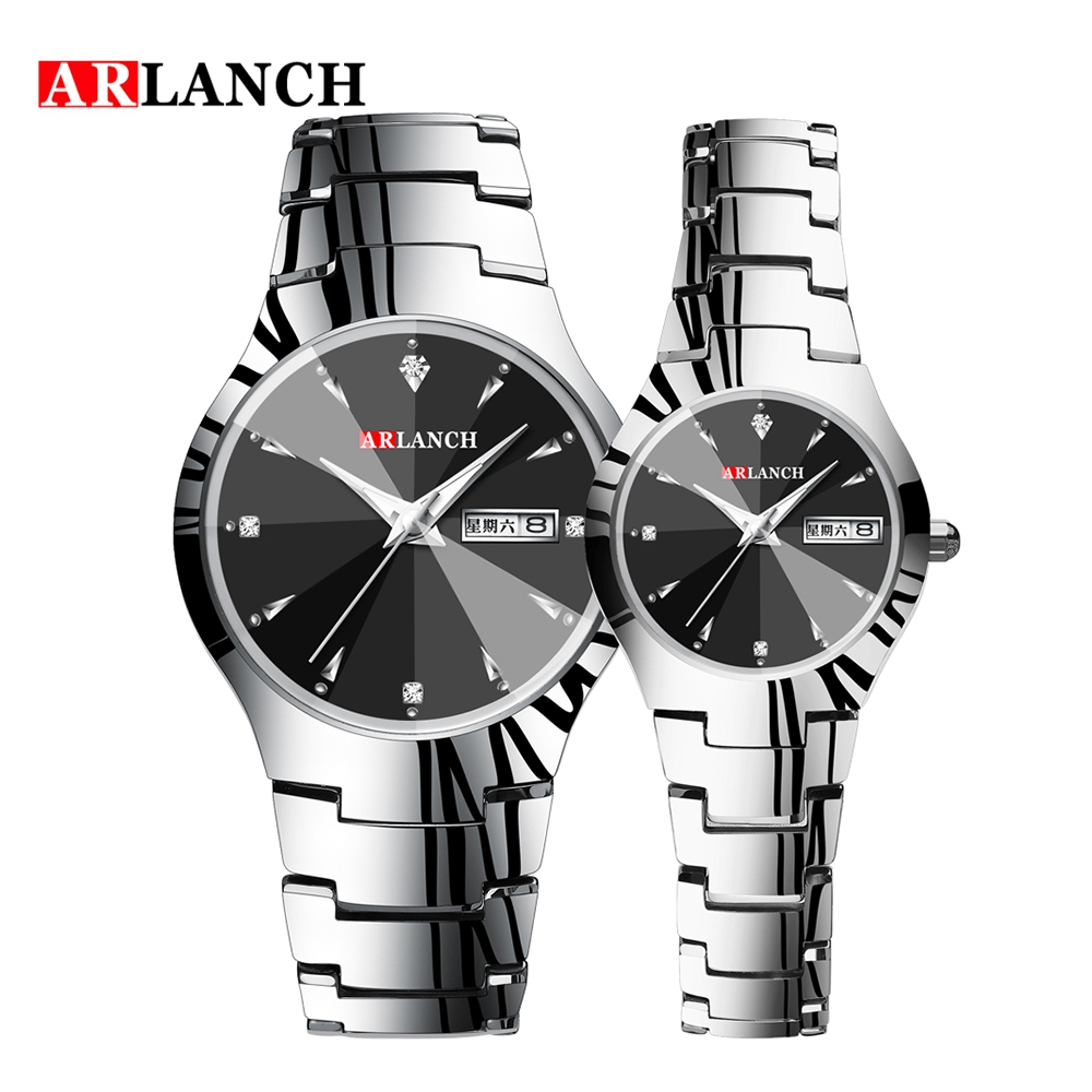 ARLANCH 2019 New Brand Couple Watch Men Watch Women Stainless Steel Fashion Pair Watches Clock Reloj Hombre Reloj Mujer
