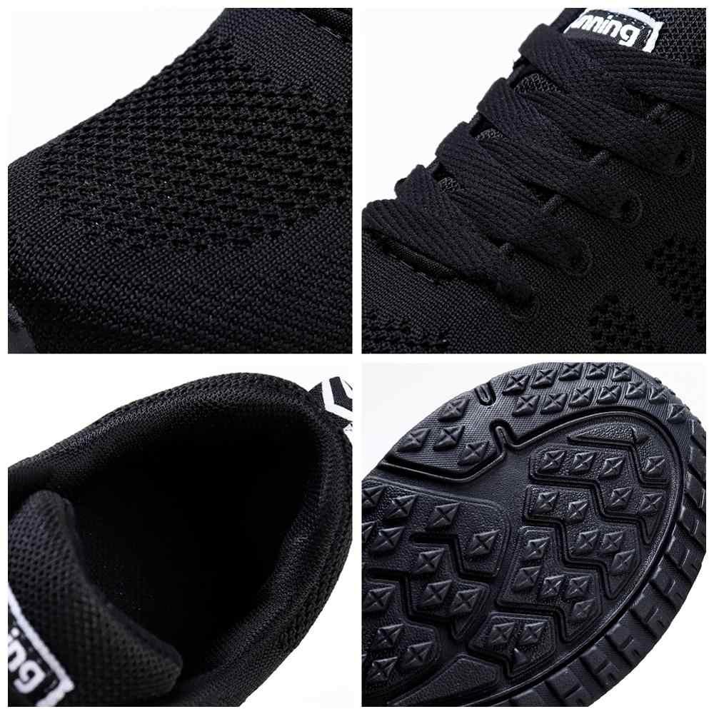 TKN ayakkabı kadın düz ayakkabı kadın 2019 sonbahar rahat dantel-up nefes örgü Sneakers bayan ayakkabıları bayan yürüyüş ayakkabısı A08