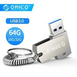 ORICO 64 ГБ 32 ГБ 16 ГБ u-диск USB флеш-накопитель USB3.0 Тип A интерфейс флэш-диск с кольцом для ключей Поддержка мобильного телефона компьютера