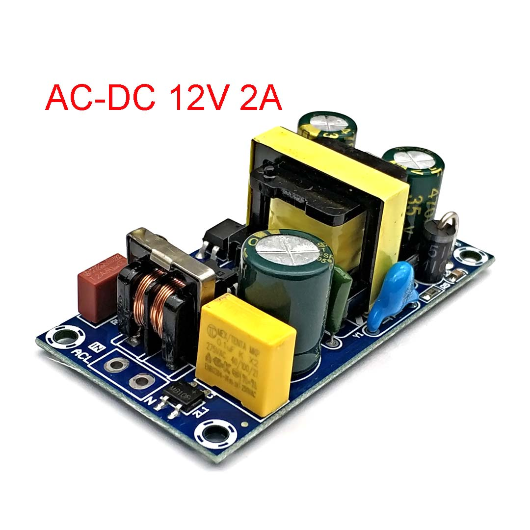 AC To DC Converter 110v 220v To DC 12v 2A 24W Max 2A Switching Power Supply Board LED Driver Power Source Module