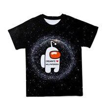 Verão novo masculino 3d entre nós anime camiseta roupas bonito dos desenhos animados pai-filho o-pescoço camiseta tamanho grande 110-6xl (customizável)