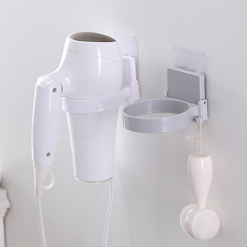 Wall-Mounted Hair Dryer Bathroom Shelf Storage Hairdryer Holder for Hairdryer Supplies ABS Hairdryer Storage Rack