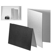 צילום רפלקטור מתקפל קרטון לבן שחור כסף רעיוני נייר רך לוח צילום אבזרי תמונה ירי