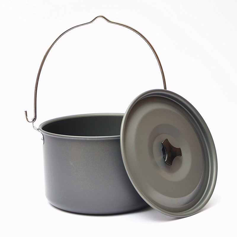 Outdoor Picnic Single Pot Aluminum Alloy Camping Pot