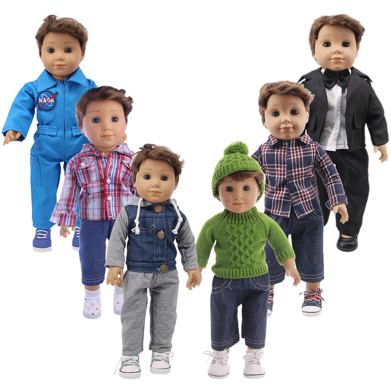 Logan Boy Doll Knit Sweater,Coat,Business Fire Clothes For 18-Inch American&43 Cm Born Baby,Generation,Birthday Girl's Toy Gift
