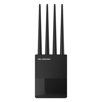 Comfast CF-WR617AC Dual Band Wireless WiFi Router 1200Mbps 2.4G+5Ghz Wi-Fi Access Point Router with 4*RJ45 ports 4*5dBi Antennas aruba instant iap 325 rw wireless network access point jw325a 802 11ac 4x4 mimo dual band radio integrated antennas