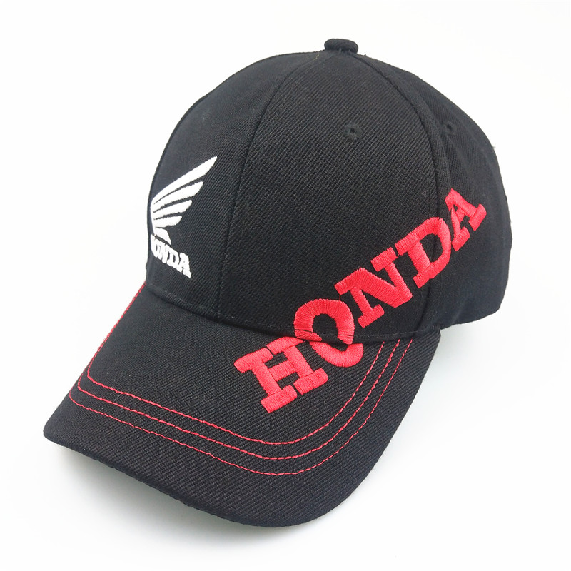 Unisex Cotton Car Logo Performance Baseball Cap Hat For Honda Hat Wing Side English