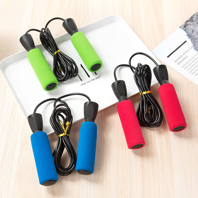 2019-07 Cotton Cover Bearing Rubber Jump Rope Adjustable Length Adult Children Students Game Athletic Fitness Jump Rope