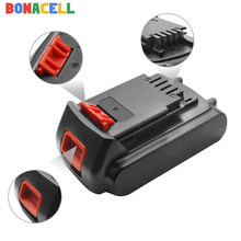 Bonacell 1Pcs 18V/20V 2000mAh Li-ion Rechargeable Battery Power Tool Replacement for BLACK & DECKER LB20 LBX20 LBXR20