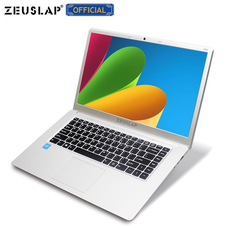 ZEUSLAP 15.6 polegada Intel Quad Core CPU 64 4GB Ram GB EMMC Janelas 10 Sistema 1920*1080P FHD Tela Netbook Laptop Notebook Computador