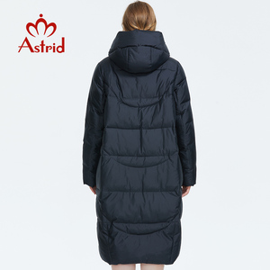 Image 4 - Astrid 2019 Winter new arrival down jacket women outerwear high quality long style thick cotton warm women winter coat AR 6596