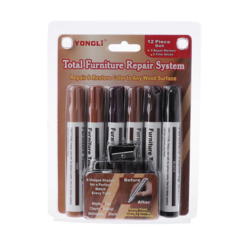 Drop Wholesale Wood Repair System Kit Filler Sticks Touch Up Marker Floor Furniture Scratch Fix