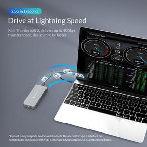 Image 4 - ORICO Thunderbolt 3m. 2 NVME SSD الضميمة 40Gbps دعم 2 تيرا بايت الألومنيوم مع 40Gbps Thunderbolt 3 C إلى C كابل لنظام التشغيل ماك ويندوز