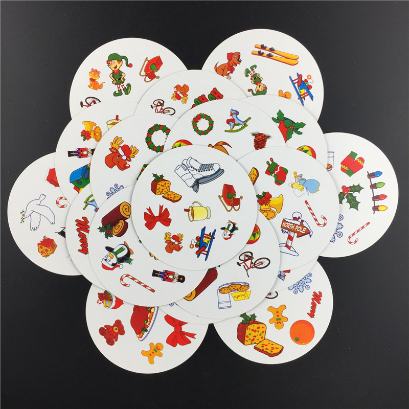 English Version Spot Cards Board Games Children Card Game It Has Metal Box Family Party Entertainment Table Dobble Games Deck